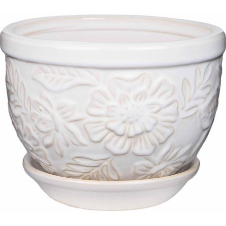 Pennington Ceramic Vintage Floral Pot/Planter, 8 inch (3)
