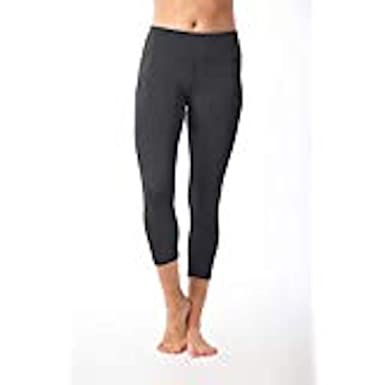 98c9842fdaf8c1 90 Degree By Reflex – Power Flex Yoga Capri – Cationic Heather Activewear  Pants - Heather