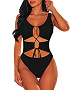 Sovoyontee Women's Sexy One Piece Swimsuits Cheeky Bikini Bathing Suit
