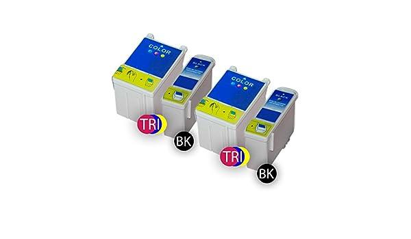 4 x Cartuchos de Tinta Compatibles Pack Color LX16 BK: Amazon.es ...