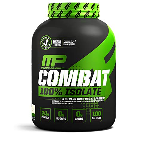 MusclePharm 100 Whey Isolate, Pure Isolate Protein Powder with 0 Carbs, Cookies N Cream, 24 Grams of Protein Per Serving, Whey Isolate Protein, Quality Protein Powder, 2-Pounds, 28 Servings