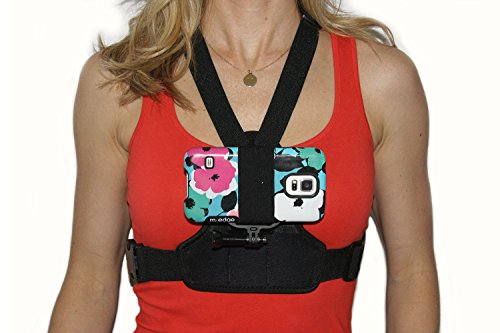 - Action Mount Female Design Chest Mount Adapter for Smartphone, Operable with Any Smartphone. More Comfortable Design for Female Body Type. Use a Phone, or Gopro. Comfortable Fit for Lady, or Man