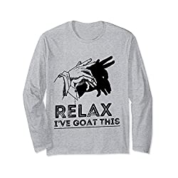 Relax I've Goat This Goat Lover Gifts Hand Shadow Puppet Long Sleeve T-Shirt