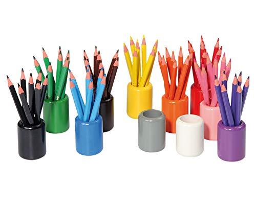 Betzold  51577 - 11 Stifteständer Leer - Malstifte Aufbewahrung, Stiftbecher aus Holz, Stiftbehälter