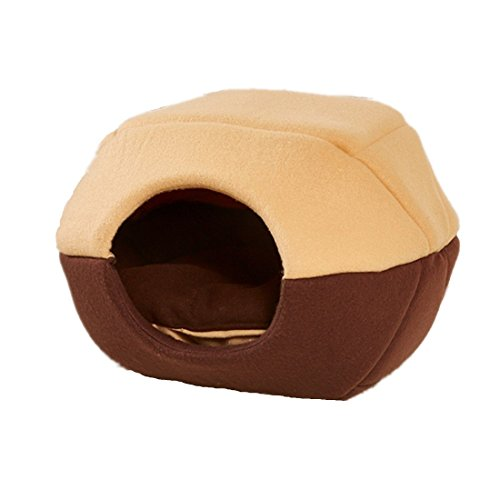 ZHANGU 2016 New Arrival Pet Bed Special Style Dog Cat House Foldable Product Puppy Kennel Sofa Bed (M, Coffee)