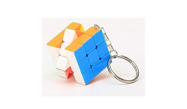 yijiayun Llavero de 6 Lados Puzzle Suave Cubo Colgante Niños ...