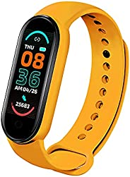M6 Smart Watch Fitness Tracker for Men and Women, Heart Rate Monitor Pedometer Calorie Counter, IP67 Waterproo