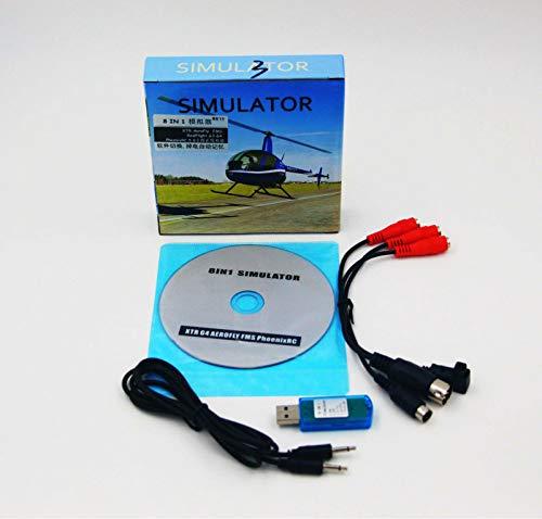 (8in1 USB Flight Simulator Cable (Phoenix,RealFlight G4,XTR,AeroFly,FMS) forFutaba ESky JR WFLY 4-8Ch Skill Traning Free)