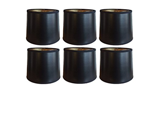- Upgradelights Black with Gold 6 Inch Tapered Drum Clip On Chandelier Lampshades (Set of six) 5x6x5