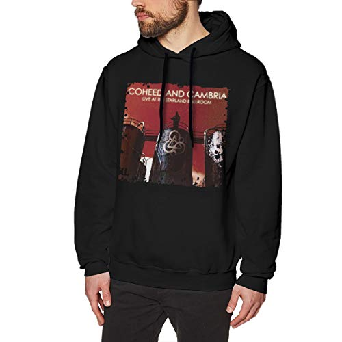 (Kangtians CLANN Coheed and Cambria Live at The Starland Ballroom Men's Hooded Sweatshirt Black L)