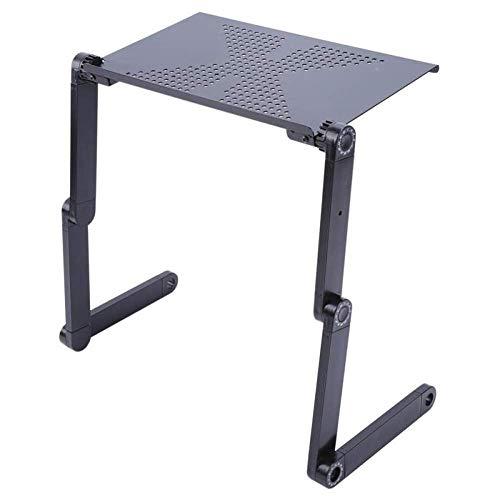 360 ° verstellbare Laptop Tisch Computer faltbare Stehen Schreibtisch Tisch Tablett Bett mit Maus Halter (Black) (Faltbar)