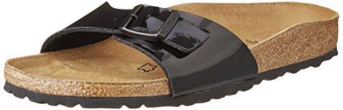 Birkenstock Men's Madrid Black Varnish Leather Sandals 41 N EU