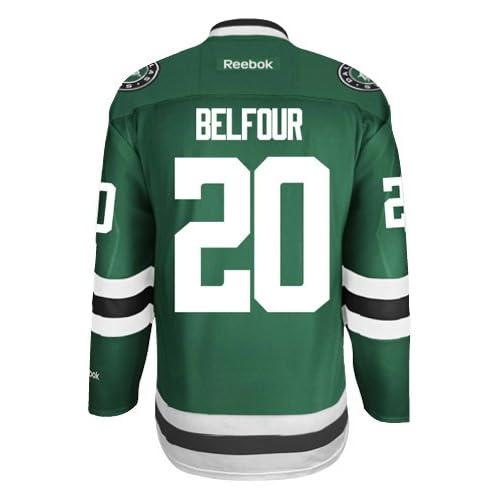 lowest price 549a7 a7be5 Ed Belfour Dallas Stars Reebok Premier Home Jersey NHL ...