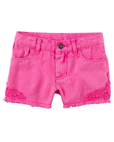 Carter's Baby Girls' Denim Lace Shorts 24 Months - Noodle Lace