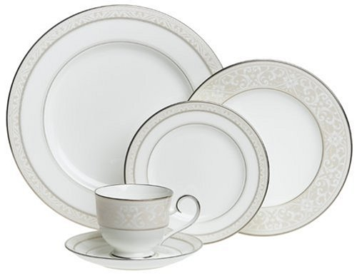 Noritake Montvale Platinum 20-Piece Dinnerware Set, Service for 4