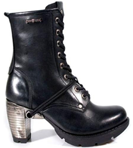 Gothique Pour Cuir Bottes New Rock Black Femmes S1 En NEWROCK Punk Cuir TR001 En Trail qznS6xTH