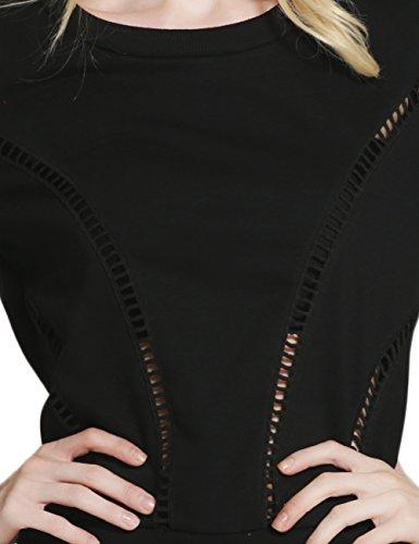 BATTAR-GIRL - Camiseta sin mangas - Asimétrico - para mujer negro