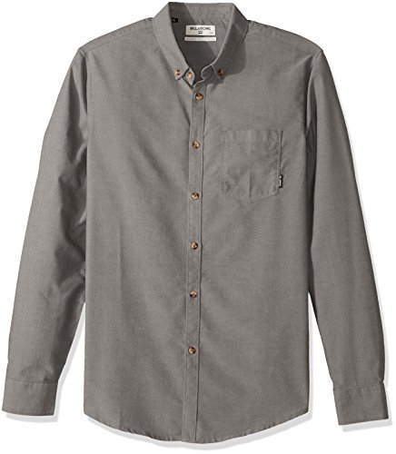 Billabong Men's All All Day Oxford Long Sleeve Top, Grey, S