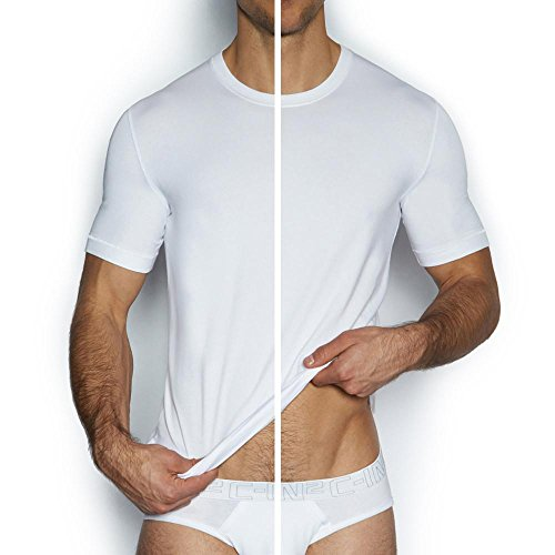 C-IN2 Men's Core Crew-Neck T-Shirt (Pack of 2), White -
