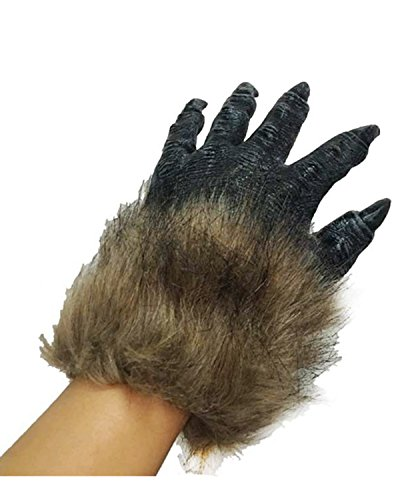 Banshee Ghost Costume (IXIMO Happy Halloween Mittens Wild Beast Claw Fur Gloves for Cosplay Costume Party Show Black)
