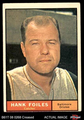 (1961 Topps # 277 Hank Foiles Baltimore Orioles (Baseball Card) Dean's Cards 3 - VG Orioles)