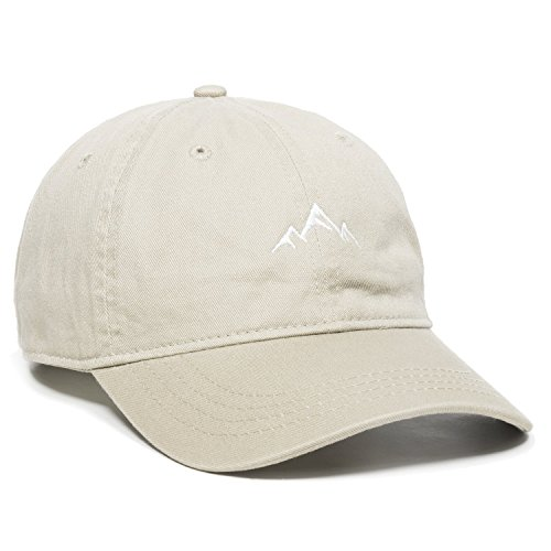 (Outdoor Cap -Adult Mountain Dad Hat-Unstructured Soft Cotton Cap, Khaki, One Size)
