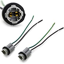 iJDMTOY (2) 912 920 921 T15 Nylon Base Socket/Base w/Pigtail Wiring Harness For Repair, Replacement or Retrofit