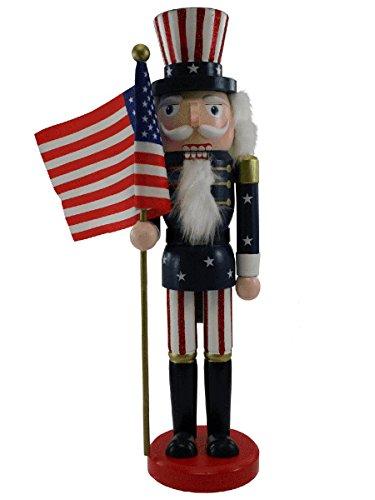 14 Inch Uncle Sam Wooden Nutcracker [14414] (Sam Uncle Nutcracker)