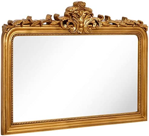 Hamilton Hills Top Gold Baroque Wall Mirror