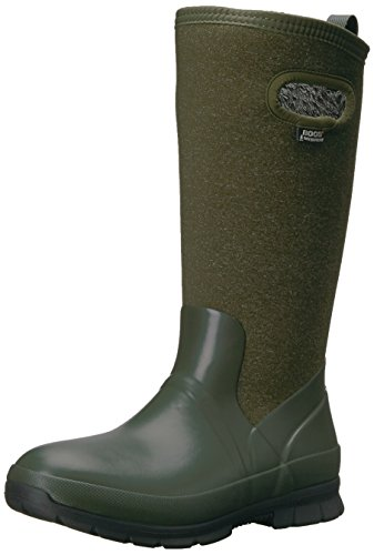 Bogs Women's Crandall Tall Snow Boot, Dark Green/Multi, 9 M US by Bogs