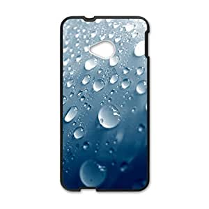 Personalized Creative Cell Phone Case For HTC M7,water drops with blue background