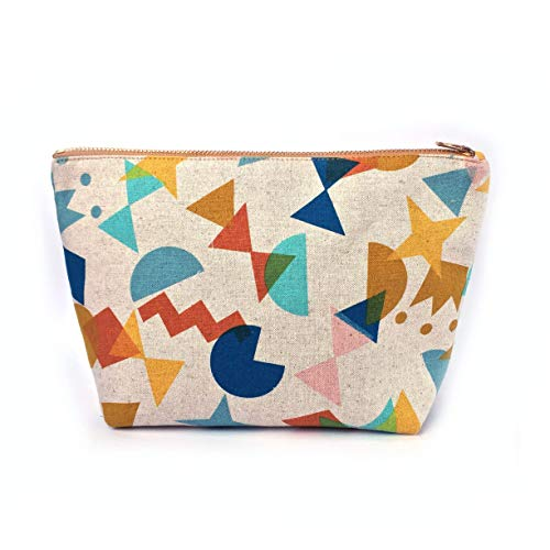 Travel Gifts Canvas Cosmetic Purse Handmade Large Toiletry Bag - Fun Shape ()
