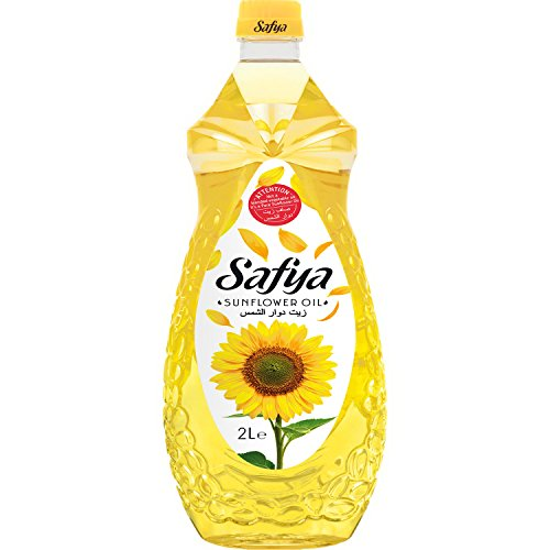 Safya - 100% Pure Sunflower Oil, 2 L (67.6 fl oz)