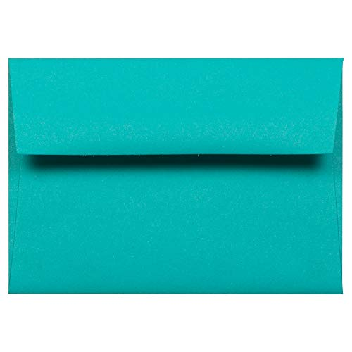 - JAM PAPER 4Bar A1 Colored Invitation Envelopes - 3 5/8 x 5 1/8 - Sea Blue Recycled - 50/Pack