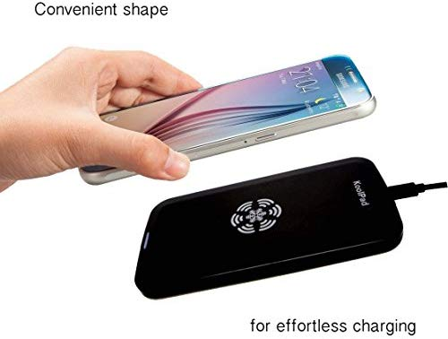 KoolPad Cargador Inalámbrico Con Tecnología Qi para iPhone XS, XS Max, XR, X, 8, 8 Plus, Samsung Galaxy S10, S10+, S10e, S9, S9+, S8, S8+, S7, S7 ...