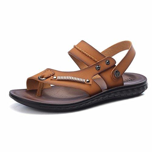 Estate uomini sandali spiaggia scarpa uomini gioventù Soft bottom non-slip tempo libero dual use sandali scarpa uomini marea scarpe, khaki, UK = 7, EU = 40 2/3