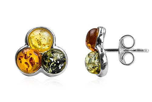 Oval Polished Cufflinks Sterling Silver (Multicolor Amber Sterling Silver Fashion Charming Stud Earrings)