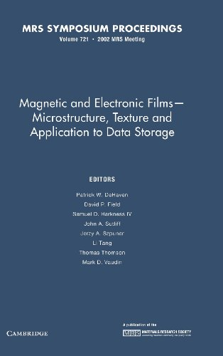 Field Memory Recorder - Magnetic and Electronic Films - Microstructure, Texture and Application to Data Storage: Volume 721 (MRS Proceedings)