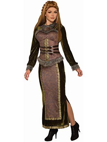 Forum Disfraz de Diosa vikinga, marrón, estándar: Amazon.es: Ropa ...
