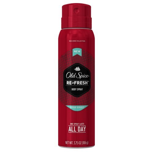 Old Spice Red Zone Pure Sport Men's Body Spray, 3.75 oz - Buy Packs and SAVE (Pack of 4) (Old Spice Pure Sport Body Spray)