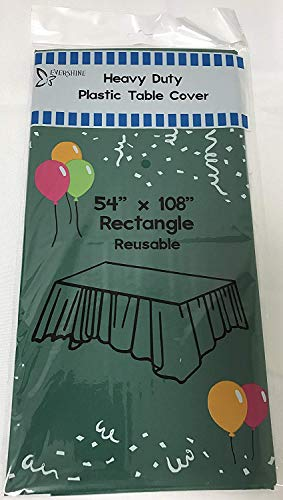(Evershine (12-Pack) Heavy Duty Plastic Table Covers Tablecloth (Reusable) (Rectangle 54