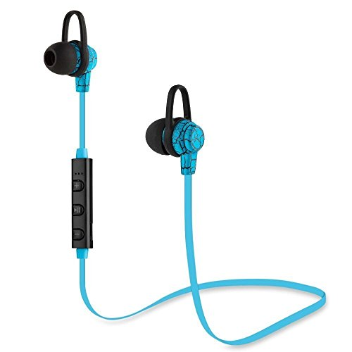 Bluetooth Wireless Neckband Headphone Soft Neck Strap Foldable Sport Earphone Hands Free In Ear Earbud with Mic, Stereo Super Bass Noise Reduction For iPhone Samsung Gym Running (Introductory Price)