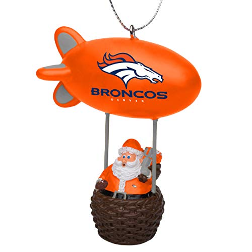 NFL Denver Broncos Santa Blimp Ornamentsanta Blimp Ornament, Team Color, One - Ornaments Nfl