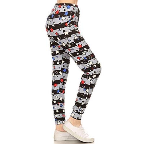 20511fad2a Leggings Depot Premium Jogger Women's Popular Printed High Waist Track Yoga  Full Pants (S-XL)