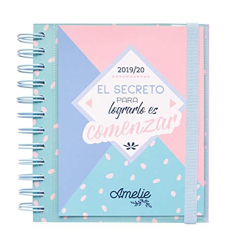 Agenda escolar 2019/2020 dia pagina M Amelie