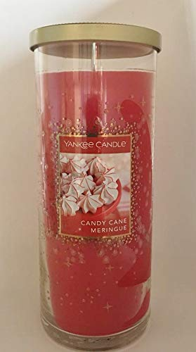 (Yankee Candle Candy Cane Meringue Large Decorative Perfect Pillar Candle)