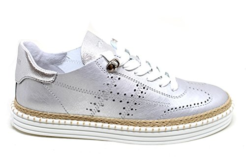 Hogan Ladies Hxw2600ad30ieub200 Sneakers In Pelle Argento