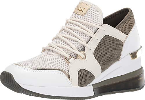 Michael Kors MK Women's Liv Trainer Extreme Mesh Sneakers Shoes Cream Multi (8)