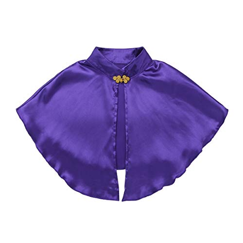 Musical Theatre Halloween Costumes (inhzoy Kids Girls' Great Performance Costumes Cape Top with Skirt and Wristband for Halloween Role Play Party Purple)