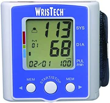 WrisTech Blood Pressure Monitor with Case - Lightning Fast & Highly Accurate - Heart Rate Monitoring Device with Wrist Cuff & Case – 2 User Mode with 60 Memory - Clinically Tested & Fully Automatic